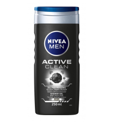 DUŠO ŽELĖ NIVEA MEN 250ML ACTIVE CLEAN VYRAMS