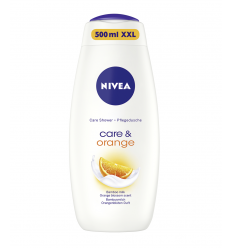 DUŠO ŽELĖ NIVEA 500ML CARE & ORANGE