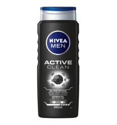 DUŠO ŽELĖ NIVEA MEN 500ML ACTIVE CLEAN VYRAMS