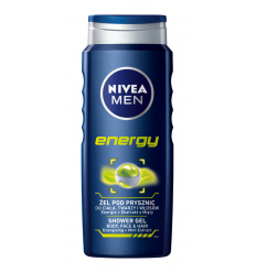 DUŠO ŽELĖ NIVEA MEN 500ML ENERGY VYRAMS