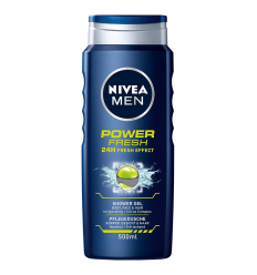 DUŠO ŽELĖ NIVEA MEN 500ML POWER FRESH VYRAMS