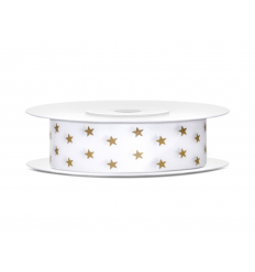 JUOSTELĖ SATINO 18MM/10M GOLD STAR