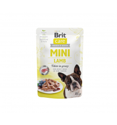 BRIT CARE MINI LAMB KONSERVAI 85G ŠUNIMS