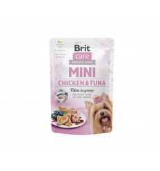 BRIT CARE MINI CHICKEN KONSERVAI 85G ŠUNIMS