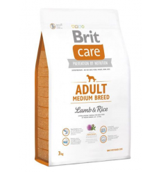 BRIT CARE ADULT M LAMB&RICE 3KG ŠUNIMS
