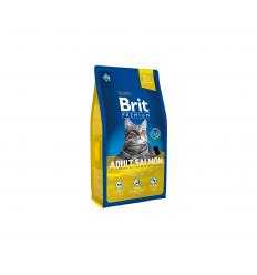 BRIT PREMIUM CAT ADULT SALMON 8KG KATĖMS