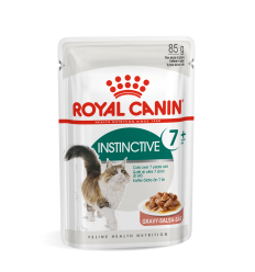 ROYAL CANIN FHN WET 85G INSTINCTIVE +7 IN GRAVY KATĖMS