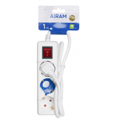AIRAM ILGIKLIS 3-WAY+SWITCH EXTENSION CORD 1M
