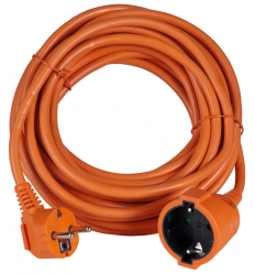 AIRAM ILGIKLIS 1-WAY EXT.CORD ORANGE IP20 10M
